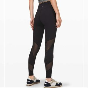 "Lululemon 🌸 Wunder Under Mesh Tight 28"" Leggings"